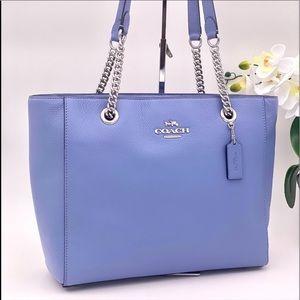 Coach Marlie Tote Shoulder Bag Blue